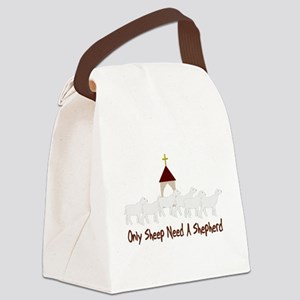Only Sheep Need Shepherd Canvas Lunch Bag